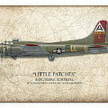Little Patches B-17 Flying Fortress - Map Background by Craig Tinder