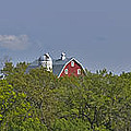 Little Red Barn In The Vale by David Berg