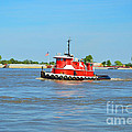 Little Red Boat On The Mighty Mississippi by Alys Caviness-Gober