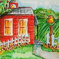 Little Red Schoolhouse by Elaine Duras