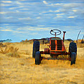 Little Red Tractor 4 by Cathy Anderson