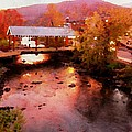 Little River Bridge At Sunset Gatlinburg by Rebecca Korpita