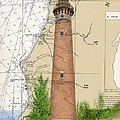 Little Sable Lighthouse Lake Mi Nautical Chart Map Art Cathy Peek by Cathy Peek