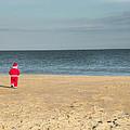 Little Santa On The Beach by Trish Tritz
