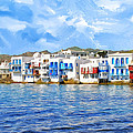 Little Venice On Mykonos by Dominic Piperata