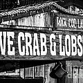 Live Crab And Lobster Sign On Dory Fish Market by Paul Velgos