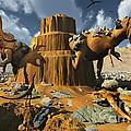 Living Fossils In A Desert Landscape by Mark Stevenson