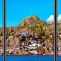 Living On The Edge Of The Battery Painterly Triptych by Barbara Griffin