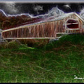 Livingston Manor Covered Bridge - Featured In Comfortable Art Group by Ericamaxine Price