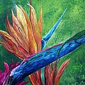 Lizard On Bird Of Paradise by Eloise Schneider Mote