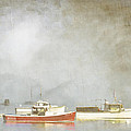 Lobster Boats At Anchor Bar Harbor Maine by Carol Leigh