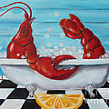 Lobster Bubble Bath by Kristine Kainer