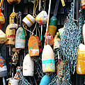 Lobster Buoys Fishermans Shed by Thomas R Fletcher