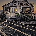 Lobster Landing Shack Restaurant At Sunset by Edward Fielding