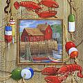 Lobster Shack Collage by Paul Brent