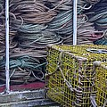 Lobster Traps And Ropes by Stuart Litoff