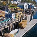 Lobster Traps At New Harbor by Frank Tozier