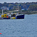 Lobstering Off Maine Coast by Mike Martin