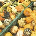 Local Glazed Gourds Painterly Effect by Carol Leigh