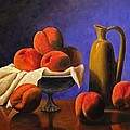 Local Peaches Oil Painting by Michael Saunders