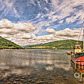 Loch Fyne Digital Painting by Antony McAulay