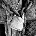 Locked - Black And White by Joseph Skompski