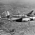 Lockheed P-38 Lightning Fighter by Underwood Archives