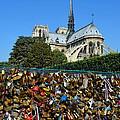 Locks Galore On The Pont De L'archeveche In Paris by Carla Parris