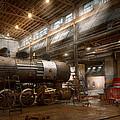Locomotive - Locomotive Repair Shop by Mike Savad