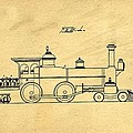 Locomotive Support Patent Drawing From 1915 1 by Samir Hanusa