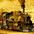 Sepia Locomotive Coal Burning Train Engine   by Jerry Cowart