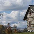 Log Cabin And November Sky by David Arment