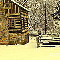 Log Cabin In The Snow by Tami Quigley