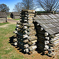 Log Cabins At Valley Forge by Olivier Le Queinec