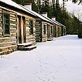 Log Cabins In Fort Wilkins by Julie Ketchman
