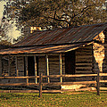 Log Cabins In Sunset by Linda Phelps
