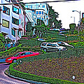 Lombard Street In San Francisco-california  by Ruth Hager