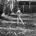 London Bathers Play Clock Golf by Underwood Archives