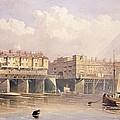London Bridge, 1835 by George Pyne