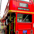 London Bus Heading To Kensington by Sue Turner-Cray