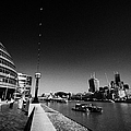 London City Hall On The Banks Of The River Thames With Views Of The City Of London England Uk by Joe Fox