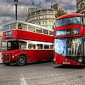 London Double Decker Buses by Lee Nichols