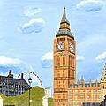 London England Big Ben  by Magdalena Frohnsdorff