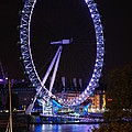 London Eye By Night by Wojciech Olszewski