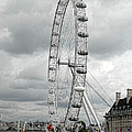 London Eye On The River Thames by Donna Lee Blais