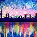 London In Blue  by Mark Ashkenazi