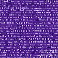 London In Words Purple by Sabine Jacobs