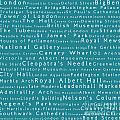 London In Words Teal by Sabine Jacobs