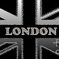 London Modern Union Jack Flag by Ckeen Art