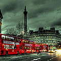 London Red Buses And Routemaster by Jasna Buncic